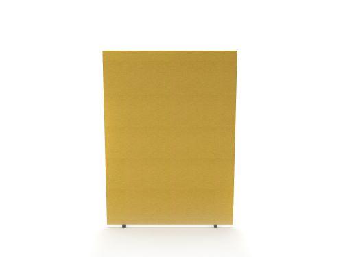 Impulse Plus Oblong 1500/1200 Floor Free Standing Screen Beige Fabric Light Grey Edges