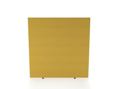 Impulse Plus Oblong 1500/1400 Floor Free Standing Screen Beige Fabric Light Grey Edges