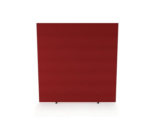 Impulse Plus Oblong 1500/1400 Floor Free Standing Screen Burgundy Fabric Light Grey Edges