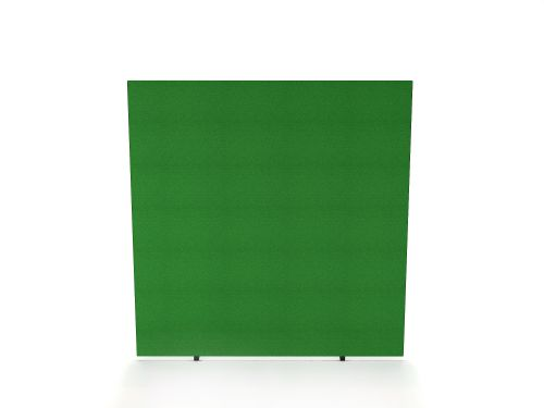Impulse Plus Oblong 1500/1500 Floor Free Standing Screen Palm Green Fabric Light Grey Edges