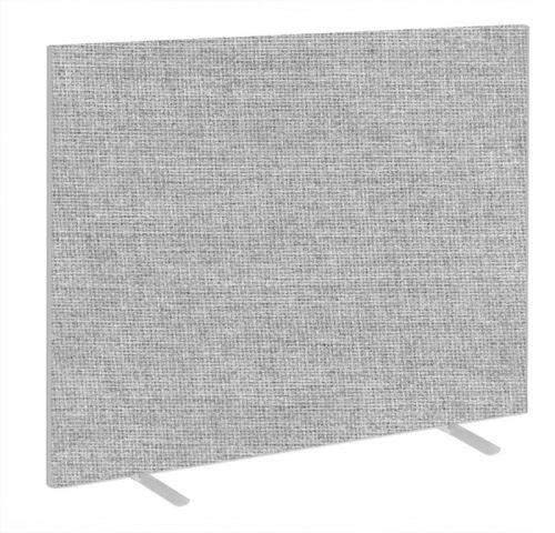 Impulse Plus Oblong 1500/1600 Floor Free Standing Screen Light Grey Fabric Light Grey Edges