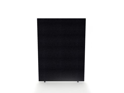 Impulse Plus Oblong 1200/600 Floor Free Standing Screen Black Fabric Light Grey Edges