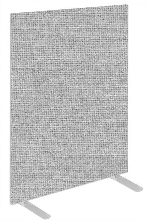 Impulse Plus Oblong 1200/800 Floor Free Standing Screen Light Grey Fabric Light Grey Edges