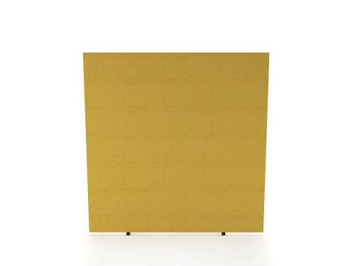 Impulse Plus Oblong 1200/1000 Floor Free Standing Screen Beige Fabric Light Grey Edges