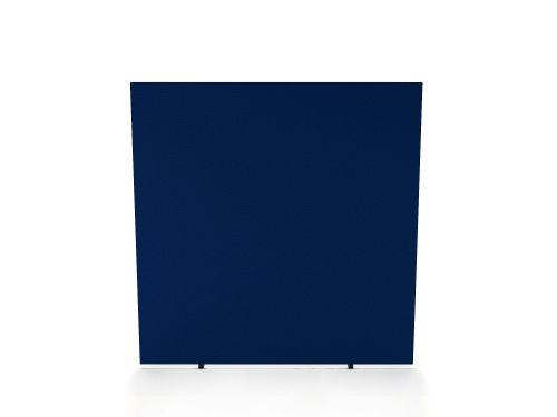 Impulse Plus Oblong 1200/1000 Floor Free Standing Screen Powder Blue Fabric Light Grey Edges