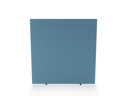 Impulse Plus Oblong 1200/1200 Floor Free Standing Screen Sky Blue Fabric Light Grey Edges