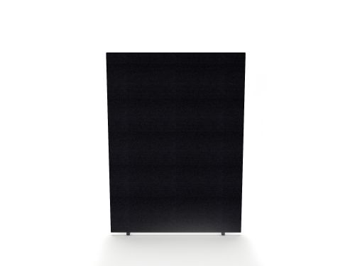 Impulse Plus Oblong 1200/1500 Floor Free Standing Screen Black Fabric Light Grey Edges