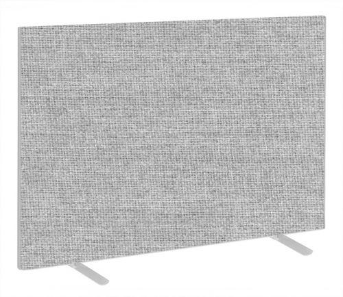 Impulse Plus Oblong 1200/1500 Floor Free Standing Screen Light Grey Fabric Light Grey Edges