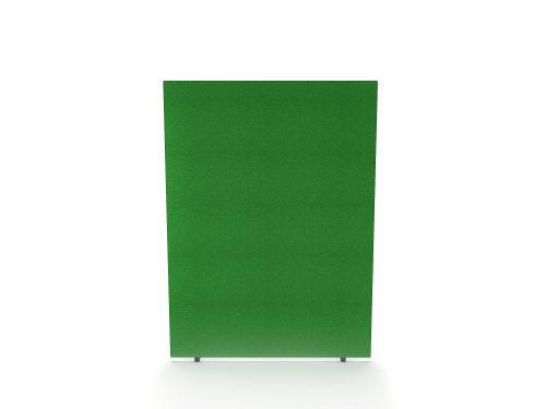 Impulse Plus Oblong 1200/1500 Floor Free Standing Screen Palm Green Fabric Light Grey Edges