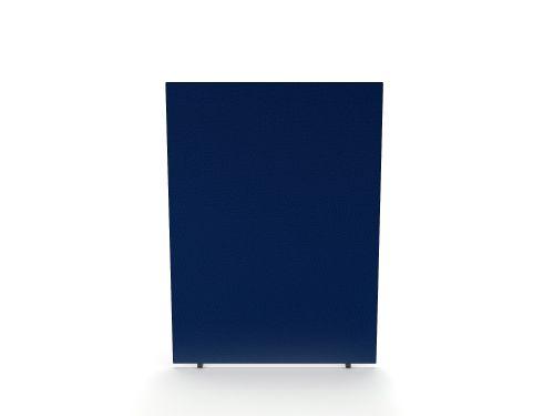 Impulse Plus Oblong 1200/1500 Floor Free Standing Screen Powder Blue Fabric Light Grey Edges