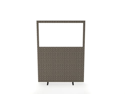 Impulse Plus Clear Half Vision 1650/1200 Floor Free Standing Screen Lead Fabric Light Grey Edges