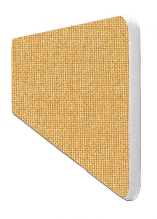 Impulse Plus Oblong 400/600 Desktop Screen Rounded Corners Beige Fabric Light Grey Edges