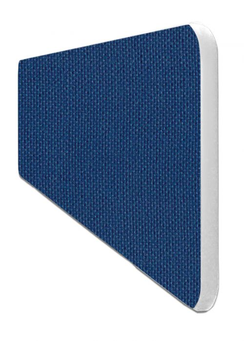 Impulse Plus Oblong 400/600 Desktop Screen Rounded Corners Powder Blue Fabric Light Grey Edges