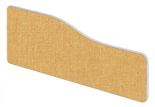 Impulse Plus Wave 400/1000 Desktop Screen Rounded Corners Beige Fabric Light Grey Edges