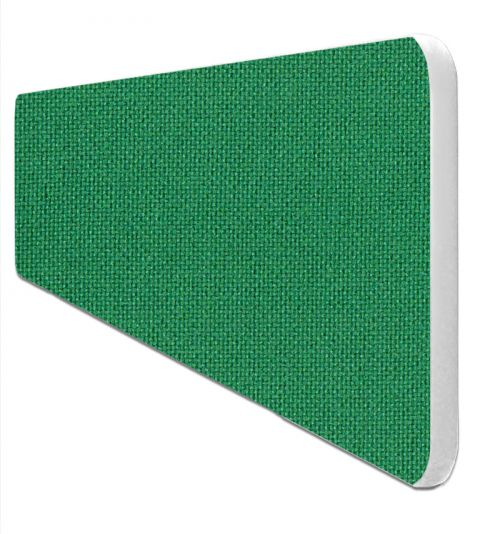 Impulse Plus Oblong 400/1200 Desktop Screen Rounded Corners Palm Green Fabric Light Grey Edges