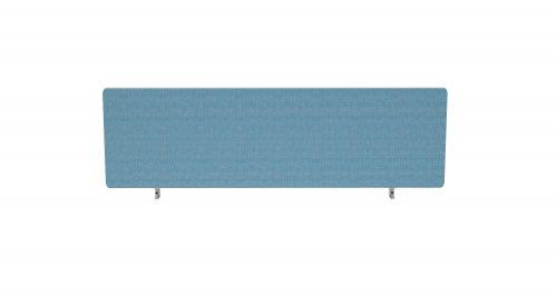 Impulse Plus Oblong 400/1200 Desktop Screen Rounded Corners Sky Blue Fabric Light Grey Edges