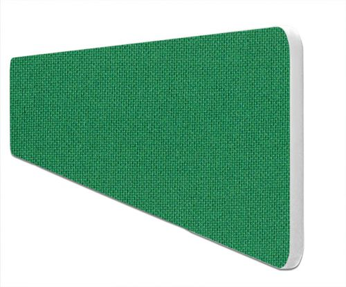 Impulse Plus Oblong 400/1500 Desktop Screen Rounded Corners Palm Green Fabric Light Grey Edges