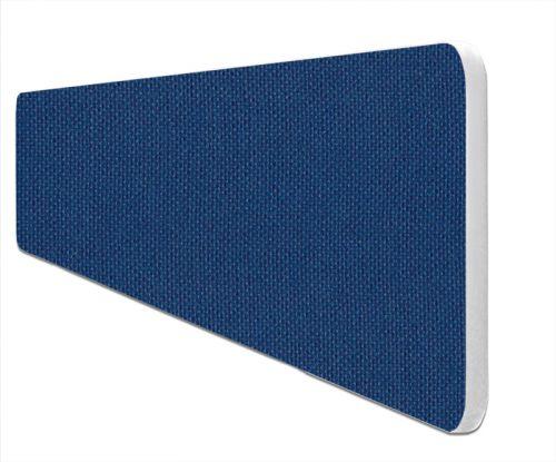 Impulse Plus Oblong 400/1500 Desktop Screen Rounded Corners Powder Blue Fabric Light Grey Edges