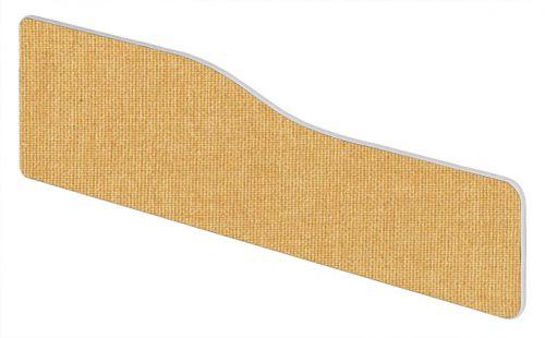 Impulse Plus Wave 400/1600 Desktop Screen Rounded Corners Beige Fabric Light Grey Edges