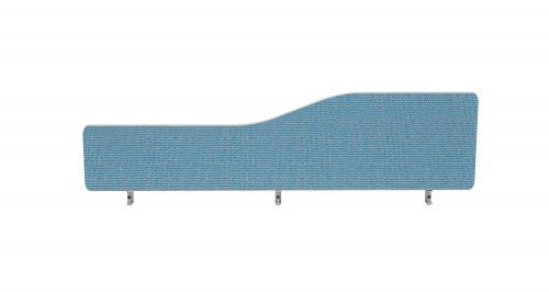 Impulse Plus Wave 400/1600 Desktop Screen Rounded Corners Sky Blue Fabric Light Grey Edges