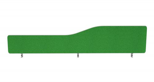Impulse Plus Wave 400/1800 Desktop Screen Rounded Corners Palm Green Fabric Light Grey Edges