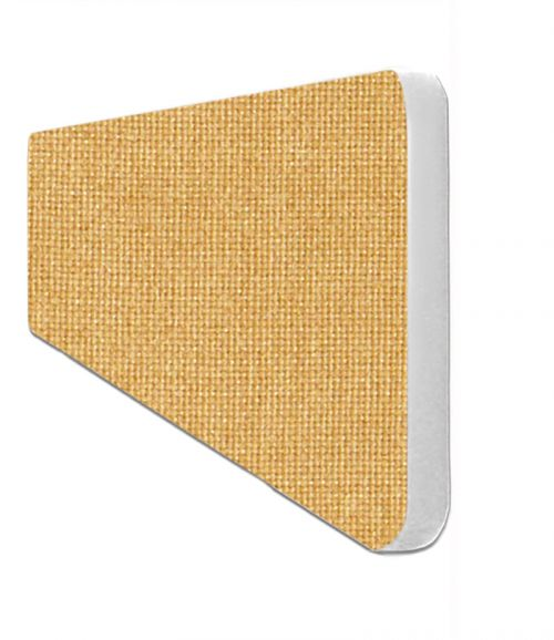 Impulse Plus Oblong 300/600 Desktop Screen Rounded Corners Beige Fabric Light Grey Edges