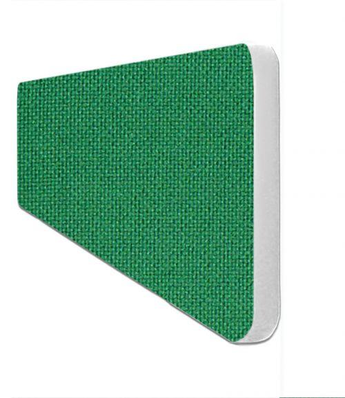 Impulse Plus Oblong 300/600 Desktop Screen Rounded Corners Palm Green Fabric Light Grey Edges