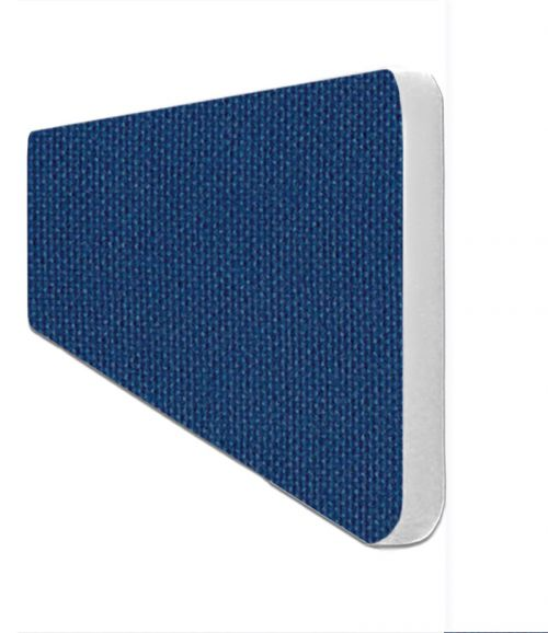 Impulse Plus Oblong 300/600 Desktop Screen Rounded Corners Powder Blue Fabric Light Grey Edges