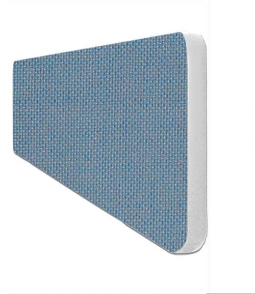 Impulse Plus Oblong 300/600 Desktop Screen Rounded Corners Sky Blue Fabric Light Grey Edges