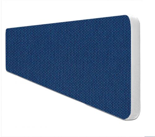 Impulse Plus Oblong 300/1000 Desktop Screen Rounded Corners Powder Blue Fabric Light Grey Edges