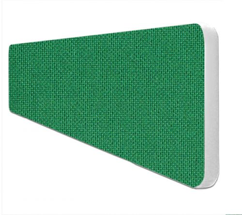 Impulse Plus Oblong 300/1200 Desktop Screen Rounded Corners Palm Green Fabric Light Grey Edges