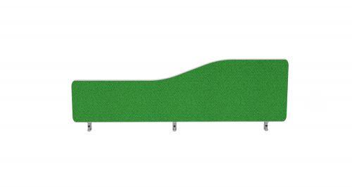 Impulse Plus Wave 300/1200 Desktop Screen Rounded Corners Palm Green Fabric Light Grey Edges