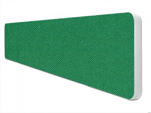 Impulse Plus Oblong 300/1500 Desktop Screen Rounded Corners Palm Green Fabric Light Grey Edges