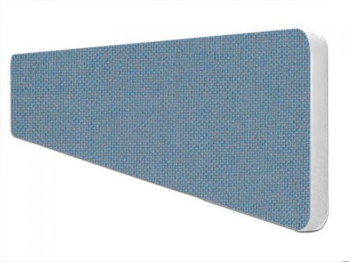 Impulse Plus Oblong 300/1500 Desktop Screen Rounded Corners Sky Blue Fabric Light Grey Edges