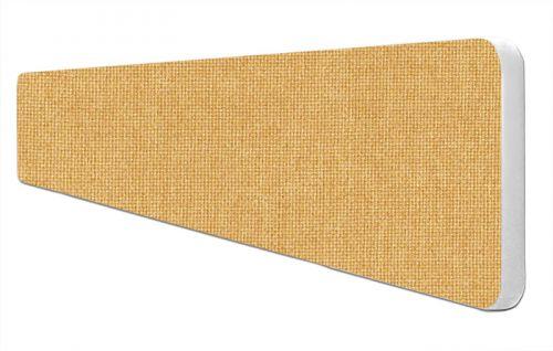 Impulse Plus Oblong 300/1800 Desktop Screen Rounded Corners Beige Fabric Light Grey Edges