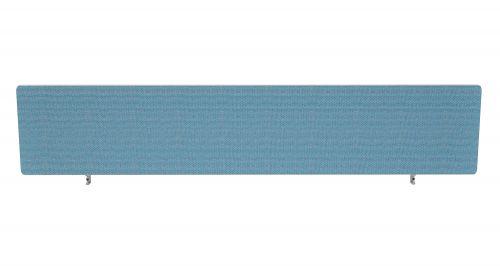 Impulse Plus Oblong 300/1800 Desktop Screen Rounded Corners Sky Blue Fabric Light Grey Edges