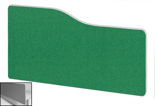 Impulse Plus Wave 400/800 Backdrop Screen Rounded Corners Palm Green Fabric Light Grey Edges