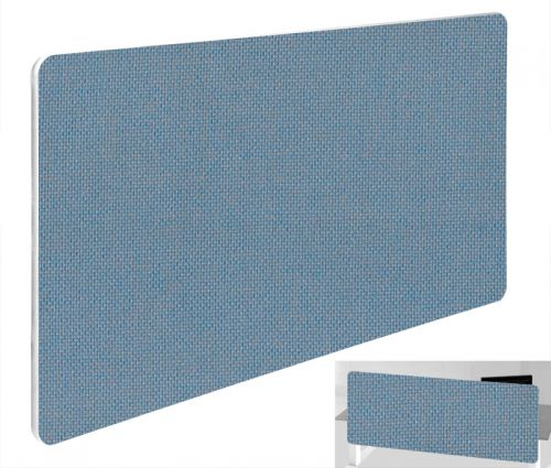 Impulse Plus Oblong 400/1000 Backdrop Screen Rounded Corners Sky Blue Fabric Light Grey Edges