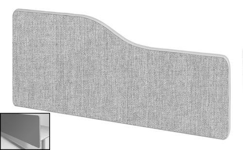 Impulse Plus Wave 400/1000 Backdrop Screen Rounded Corners Light Grey Fabric Light Grey Edges