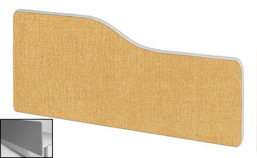 Impulse Plus Wave 400/1200 Backdrop Screen Rounded Corners Beige Fabric Light Grey Edges
