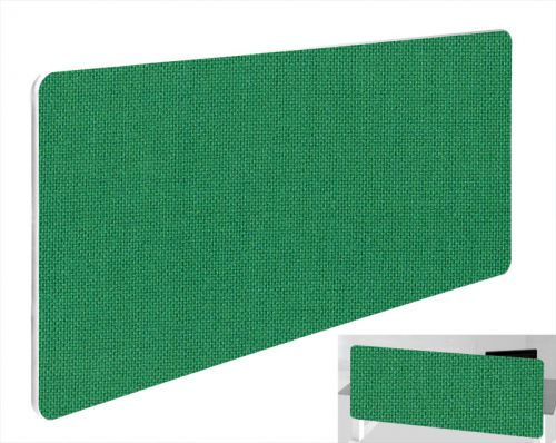 Impulse Plus Oblong 400/1500 Backdrop Screen Rounded Corners Palm Green Fabric Light Grey Edges