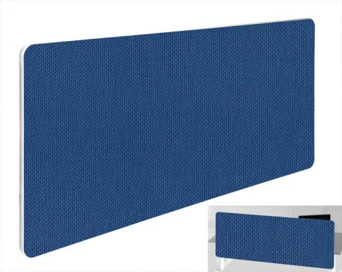 Impulse Plus Oblong 400/1500 Backdrop Screen Rounded Corners Powder Blue Fabric Light Grey Edges