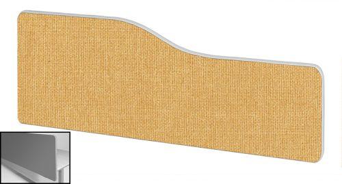 Impulse Plus Wave 400/1500 Backdrop Screen Rounded Corners Beige Fabric Light Grey Edges
