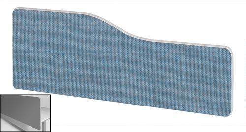 Impulse Plus Wave 400/1600 Backdrop Screen Rounded Corners Sky Blue Fabric Light Grey Edges