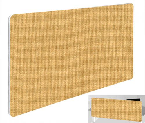 Impulse Plus Oblong 300/600 Backdrop Screen Rounded Corners Beige Fabric Light Grey Edges