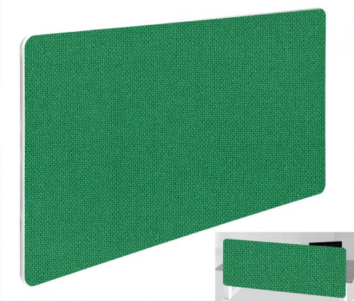 Impulse Plus Oblong 300/600 Backdrop Screen Rounded Corners Palm Green Fabric Light Grey Edges