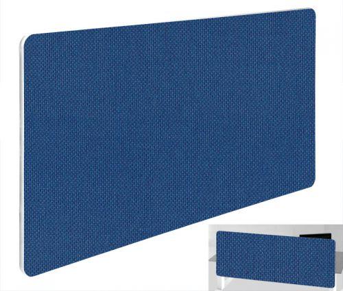 Impulse Plus Oblong 300/600 Backdrop Screen Rounded Corners Powder Blue Fabric Light Grey Edges