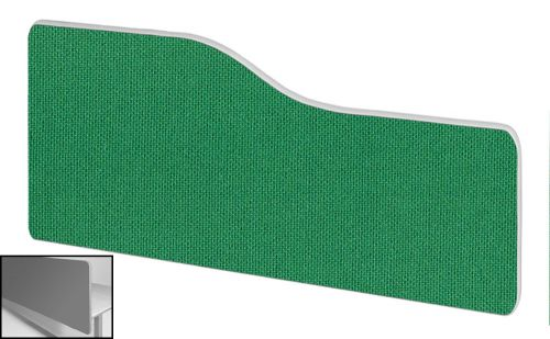 Impulse Plus Wave 300/800 Backdrop Screen Rounded Corners Palm Green Fabric Light Grey Edges