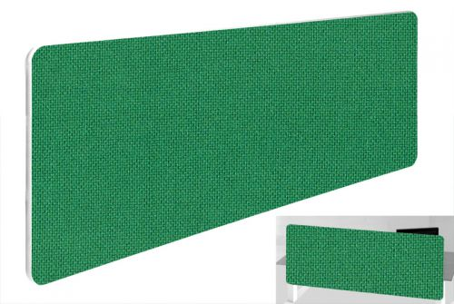 Impulse Plus Oblong 300/1200 Backdrop Screen Rounded Corners Palm Green Fabric Light Grey Edges