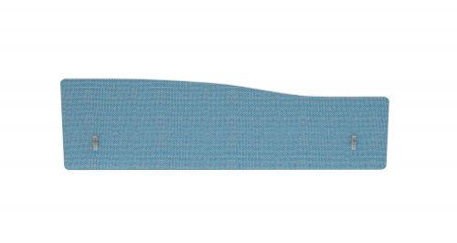 Impulse Plus Wave 300/1400 Backdrop Screen Rounded Corners Sky Blue Fabric Light Grey Edges